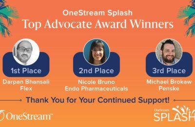 OneStream Champions | Customer Advocate Awards